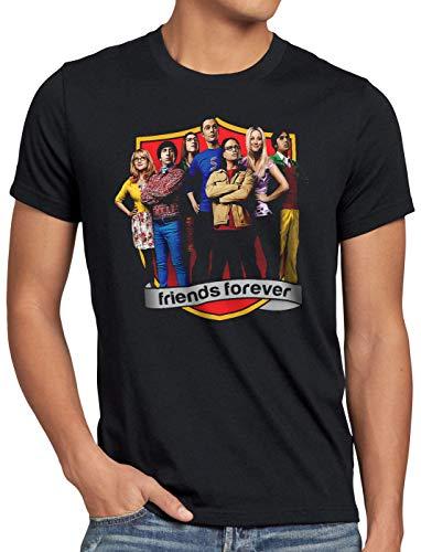 CottonCloud Big Bang Finale Camiseta para Hombre T-Shirt Sheldon Leonard Howard Rajesh Penny, Talla:S