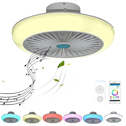 VOMI Ventilador de Techo con Luz RGB Cambiador de Color con Bluetooth...