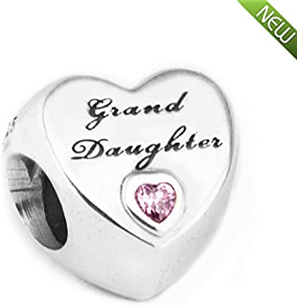 a6b618c20 PANDOCCI 2017 Autumn Granddaughter's Love Pink Heart CZ Beads 925 Sterling  Silver DIY Fits for Original
