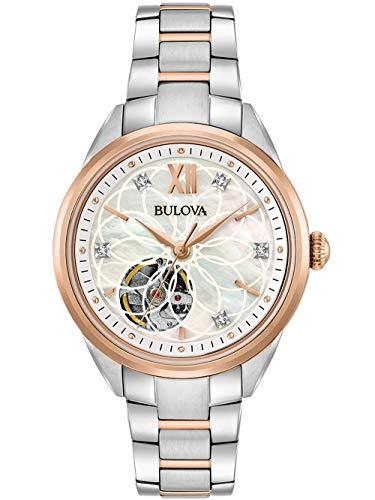 Bulova Reloj Analógico para Mujer de Automáticamente con Correa en Acero Inoxidable 98P170