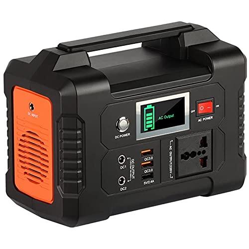 WanuigH Generador Portátil 200-24 0V 200W Cargador De Batería del Generador Solar 40800mAh Fuente De Alimentación De Energía Al Aire Libre 151Wh Fácil de Cargar (Color : Black+Orange, Size : 151Wh)