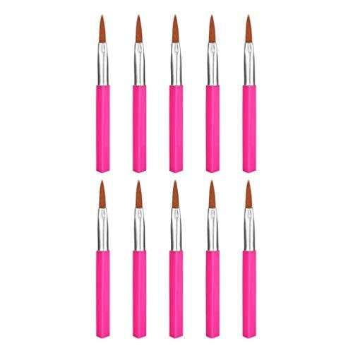 Homyl 10pcs Pinceau Eyeliner en Fibre Brosse de Maquillage Fin pour Yeux