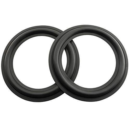 Longdex Rubber Ring 2PCS 6.5Inch Black Speaker Rubber Foam Edge Surround Rings Repair Kit for Speaker Repair or DIY