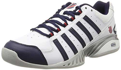 K-Swiss Performance Herren RECEIVER III CARPET Tennisschuhe, Weiß (White/Navy/FIERYRED),41 EU