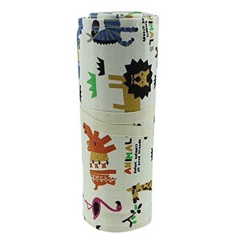 Msmask Tela Rotolo matita cosmetica 36 Holes schizzo a matita compone il sacchetto Pennello Pouch