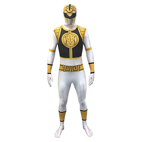 Disfraces - Mighty Morphin Power Rangers BLANCO - ADULTO X GRANDE - Morphsuits & lt; br & gt.