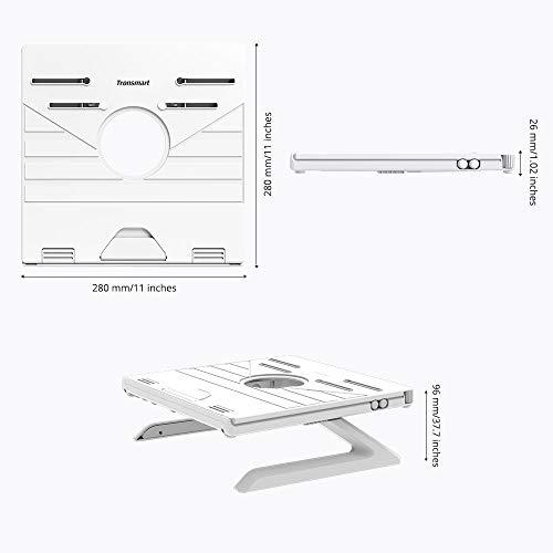 Tronsmart Laptop Ständer Ergonomisch Laptop Riser Verstellbarer Notebook Ständer Tablet Halterung kompatibel für Laptop (10 Zoll bis 17 Zoll) einschließlich MacBook Pro/Air, Surface, Samsung, HP, iPad