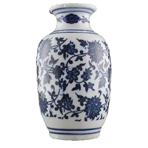 Yunhao - Vaso da fiori in porcellana, stile antico cinese, colore: blu e bianco
