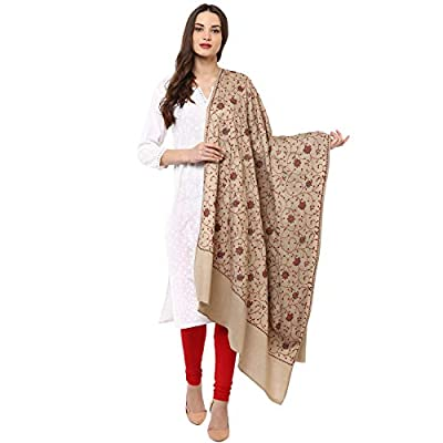 Pashtush Womens Embroidery Shawl, Heavy Jaal Design, Multicoloured Silk Thread and Needlework, Kashmiri Embroidery Design. Heritage Pashmina Collection, Pashmina Shawls (heavy work design)