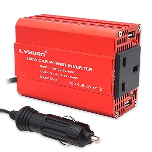 LVYUAN 300W Car Power Inverter DC 12V to 230V 240V AC Car Converter with...