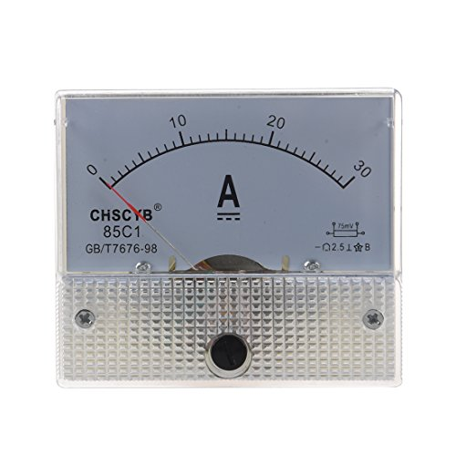SODIAL (R) 85C1 Analog Current Panel Meter DC 30A AMP Amperemeter