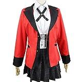 NICERE Kakegurui - Disfraz de jabami japonés, uniforme, de la escuela secundaria, para Halloween, fiesta, cosplay, disfraces para mujeres y niñas (talla M: