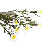 Amesii Ramo de flores artificiales de seda falsa margarita para decoración del hogar, boda, fiesta, 8 cabezas