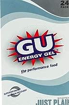 GU Energy Original Sports Nutrition Energy Gel, Just Plain, 24-Count