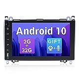 SXAUTO Android 10 Autoradio Compatible Mercedes Benz Viano/Sprinter/W906 - [2G+32G] - GRATIS Cámara Trasera Canbus MIC - 2 Din 9 Pulgada - Soporte DAB 4G WLAN Bluetooth5.0 Carplay Volante Android Auto