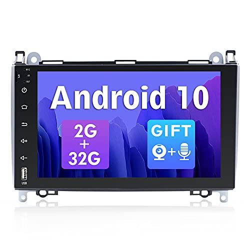 SXAUTO Android 10 Autoradio Compatibile Mercedes Benz Viano/Sprinter/W906 - [2G/32G] - 2 DIN - Telecamera Canbus Microfono Gratuiti - 9 Pollici - Supporto DAB 4G WLAN BT5.0 Carplay Volante MirrorLink