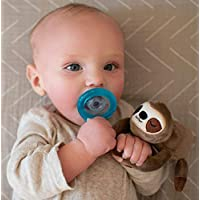 Nuby Soft Plush Sloth Pacifinder with Detachable Silicone Pacifier