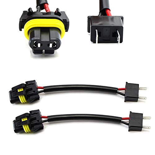 iJDMTOY (2) H7 To 9005/9006/HB4 Pigtail Wire Wiring Harness Adapters Compatible...