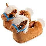 corimori Zapatillas De Casa (10+ Modelos) Invierno Josy el Pony Niños Talla 25/33.5 EU, Marrón Claro (1847)