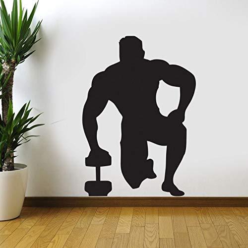 yaonuli Fitness Aufkleber Fitness Hantel Aufkleber Vinyl Wandaufkleber Fitness Übung zu Finden Aufkleber 45X63cm