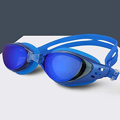 LZZB Gafas de natación Hombres y Mujeres Antivaho Profesional Impermeable Silicona Arena Piscina Gafas de natación Gafas de natación para Adultos (Color: Azul)
