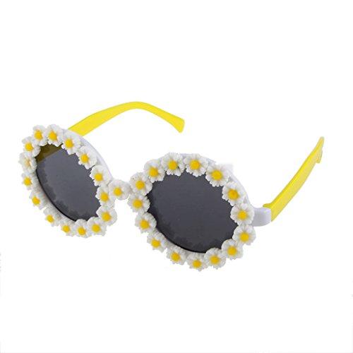 MagiDeal Novelty Rondes Lunettes Ornement de Fleur Marguerite Déguisements Costume Accessoire Fête-14x6.5cm