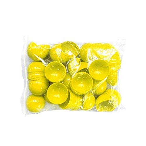 Happyyami 25Pcs Bolas de Lotería Bolas de Rifa Bolas de Bingo sin Número Bolas Huecas de Plástico 40 Mm Amarillo