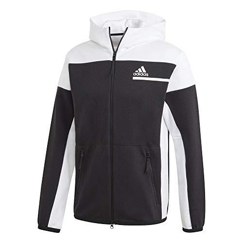 adidas Herren Z.N.E. Full-Zip Hoodie, Black/White, M