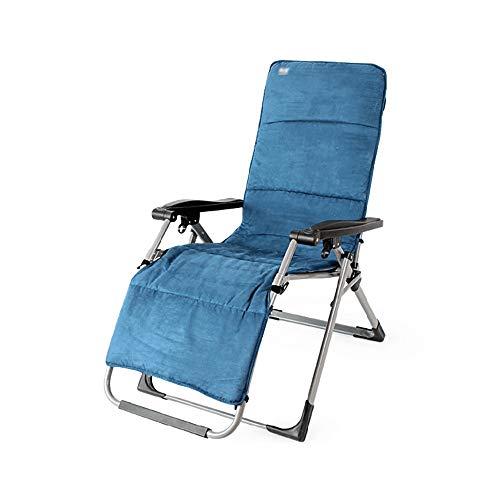 LJHA Chaise longue inclinable avec appuie-tête démontée pour voyage, plage, camping, terrasse, chaise inclinable en intérieur, chaise de réglage de 90°-168° A 68,5 x 162 cm.