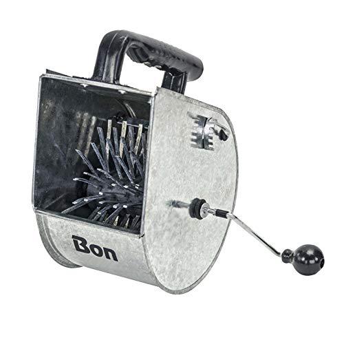 Bon 83-165 - Tirolesa para estuco, acero galvanizado y caucho