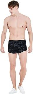 Pantalones Cortos de Seda para Hombre Pantalones Casa Suaves y Cómodo Bóxer Satin Ropa Interior Cintura Elástica Pijamas H...