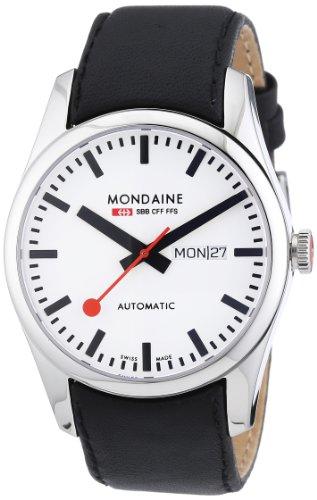 Mondaine Herren-Armbanduhr XL Retro Automatic Analog Automatik Leder A132.30345.11SBB