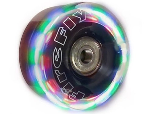 Firefly New Lightup Quad Roller Skate Replacement Wheels - Flashy Light Up LED Wheels (62mm)