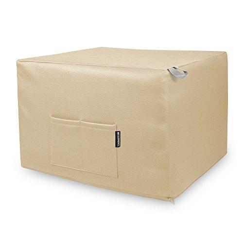 HAPPERS Puff Crudo Convertible en Cama cómoda con Funda de Polipiel incluida, Futón con Cama colchon, colchoneta Convertible en Puff o cómodo sillón Fabricado en España. Incluye 3 años de garantía