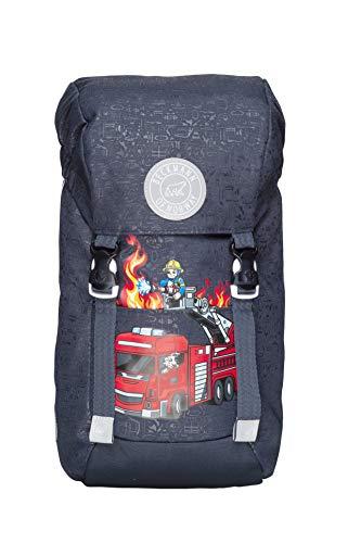 Kindergartenrucksack Jungs und Mädchen Wanderrucksack Kinder - Kinderrucksack gepolstert für EIN angenehmes Tragegefühl (Fire Truck)