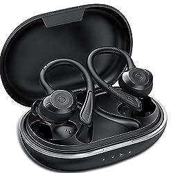 [ 3D HI-FI Son Stéréo Qualité Sonore Génial ] -- Ecouteur Bluetooth sans fil offrent un son pur avec deux haut-parleurs dynamiques et d'excellentes basses profondes. La technologie avancée de suppression de bruit CVC 8.0 minimise les distorsions et o...