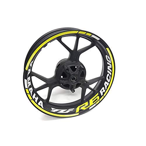 LDGF Pegatina reflectante impermeable para rueda para Y-AMAHA R6 (color 5)