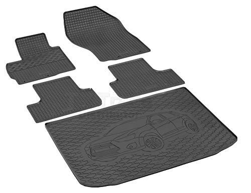 Passende Gummimatten und Kofferraumwanne Set geeignet für Mitsubishi ASX ab 2010ein Satz + Gurtschoner
