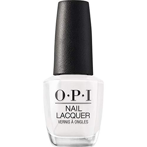 OPI Nail Polish, Nail Lacquer, Alpine Snow, White Nail Polish, 0.5 Fl Oz