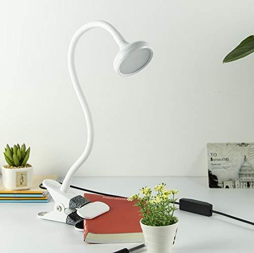 OUSENR Lampe De Table Led Lampe Écoénergétique Collier Lampe De Lecture Led Flexible Livre Table De Bureau Lampe Clipper Nuit Lumière Ampoule Blanc,Chambre Lit