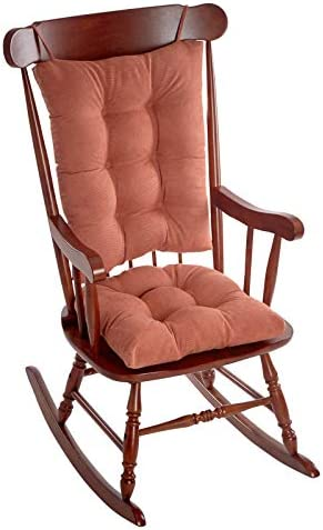 Best Klear Vu Twillo Overstuffed Rocking Chair Set, Seat and Seatback Cushions, Clay