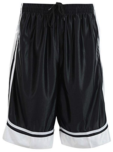 ChoiceApparel Mens Two Tone Training/Basketball Shorts with Pockets (S up to 4XL) (3XL, Black)
