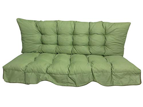 "Madison 2-teilige Hollywoodschaukel Auflage Basic Green A 044"", 170 x 56 x 15 cm, Uni grün, Made IN Europe"