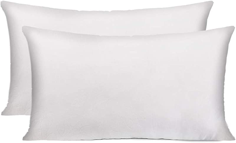 HIPPIH 12 X 20 Inch Pillow Inserts Set Of 2 Decorative Throw Pillow Inserts Hypoallergenic Rectangle Pillow Form Insert With Zips