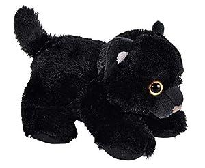 "Wild Republic Black Cat Plush, Stuffed Animal, Plush Toy, Gifts for Kids, Hug'Ems 7"""
