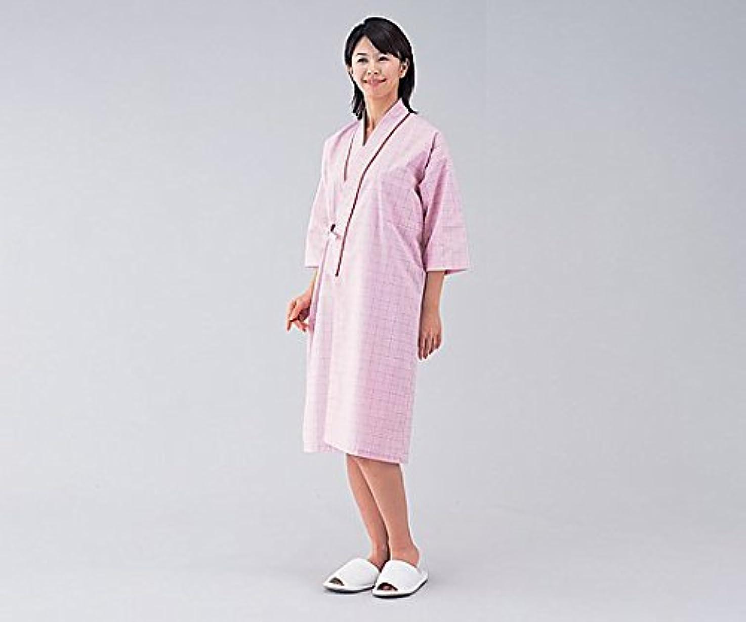 マナービジュアルスコットランド人患者衣(男女兼用) 59-445 ピンクM /0-9803-02