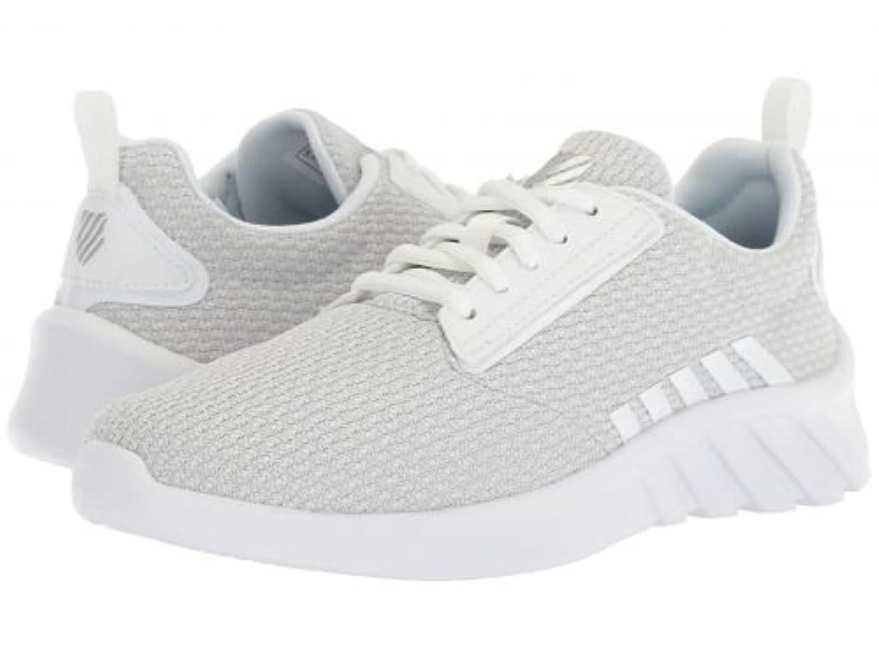 淡いパニック結晶K-Swiss(ケースイス) レディース 女性用 シューズ 靴 スニーカー 運動靴 Aeronaut - White/White 6 B - Medium [並行輸入品]