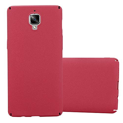 Cadorabo Hülle für OnePlus 3 / 3T in Frosty ROT - Hardcase Handyhülle aus Plastik gegen Kratzer und Stöße - Schutzhülle Bumper Ultra Slim Back Case Hard Cover