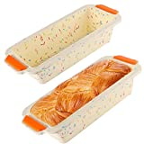 Food Grade Silicone Material: The silicone cake pan constructed of high-quality Eco-Friendly percent pure food-grade, environmentally friendly, soft, durable, easy to demould. Heat Resistance and Resumable: Loaf baking pans fridge, microwave & oven s...