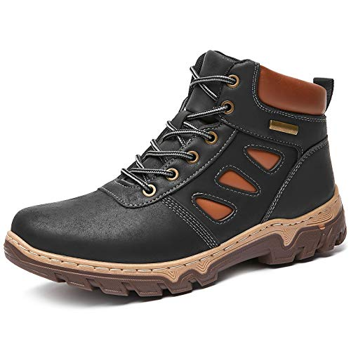 FRACORA Women's Waterproof Hiking Boots Mid Outdoor Non Slip Lightweight Lace up Ankle Boot Backpacking Trekking Mountaineering Trail Shoes(Black.US8)